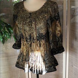 🌻 Dressbarn 🎩 NWOT  crinkled blouse